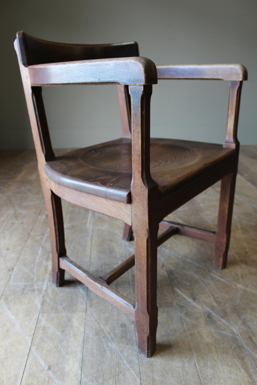9 Oak Chairs From Ampleforth Abbey
