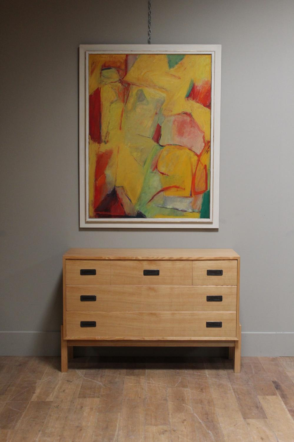 An Unusual 1950s 60s Ash Commode In Furniture