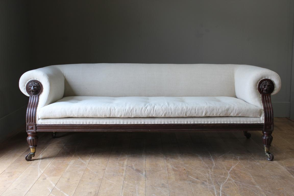 A C19th English Country House Sofa