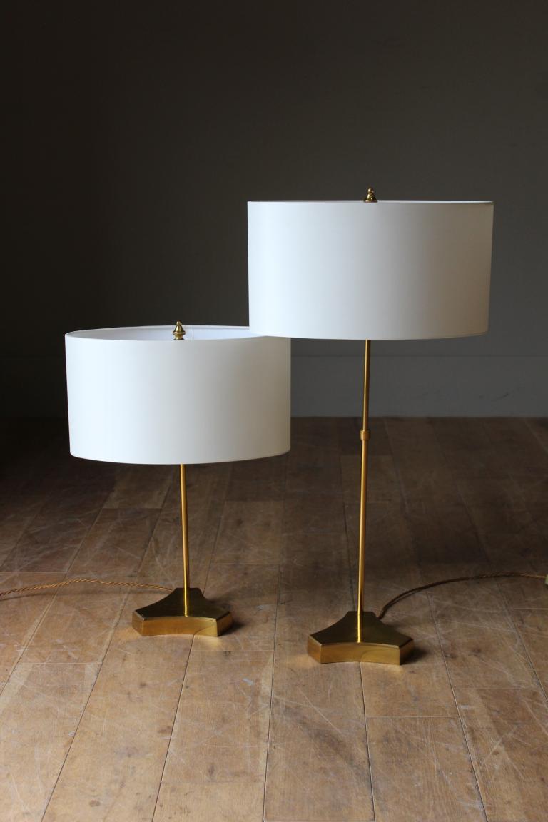 A Set Of 4 1950s 60s Adjule Br Lamps In Lighting