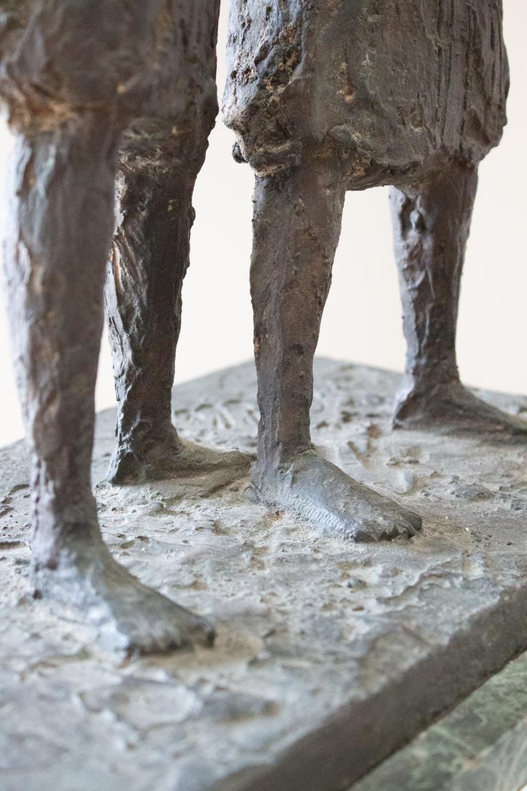 A C20th Bronze Sculpture In Giacometti Style In Decorative