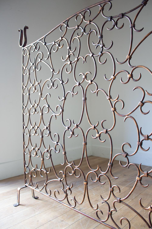 A 1950s Gilt Metal Room Divider In Furniture